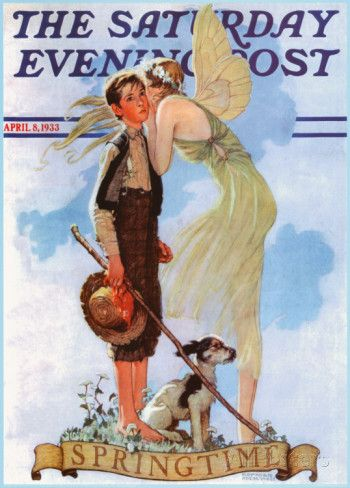 Boy with Fairy Posters by Norman Rockwell at AllPosters.com