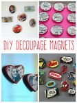 Decoupage Magnets You Can Make
