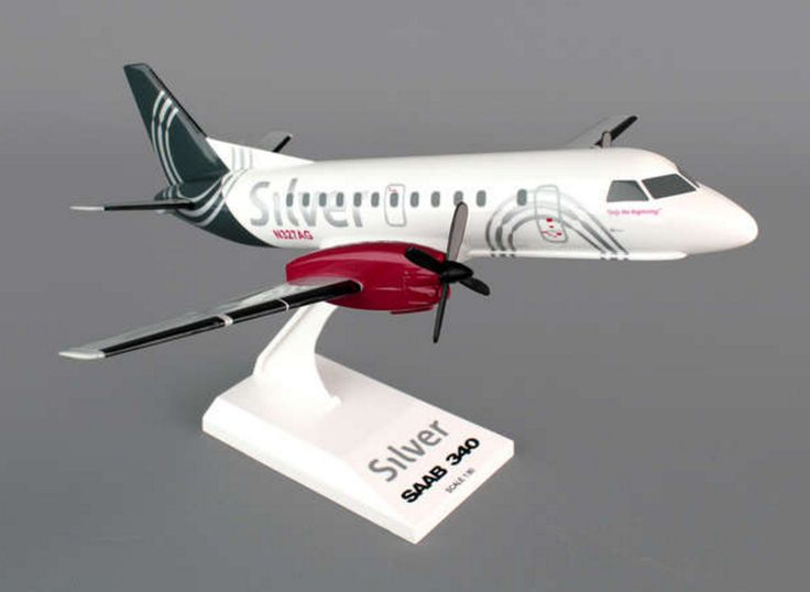 Skymarks Silver Airways Saab SF-340 1/80 Plastic Model