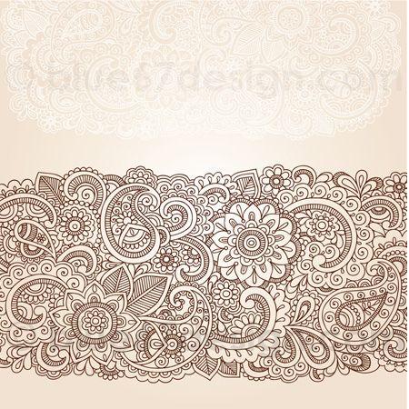 Henna Doodles Vector Illustration by blue67design | Flickr - Photo Sharing!
