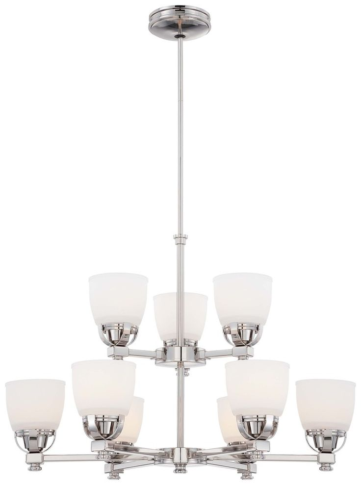 90 00 this nine light up chandelier has a nickel finish and is part of the brookview