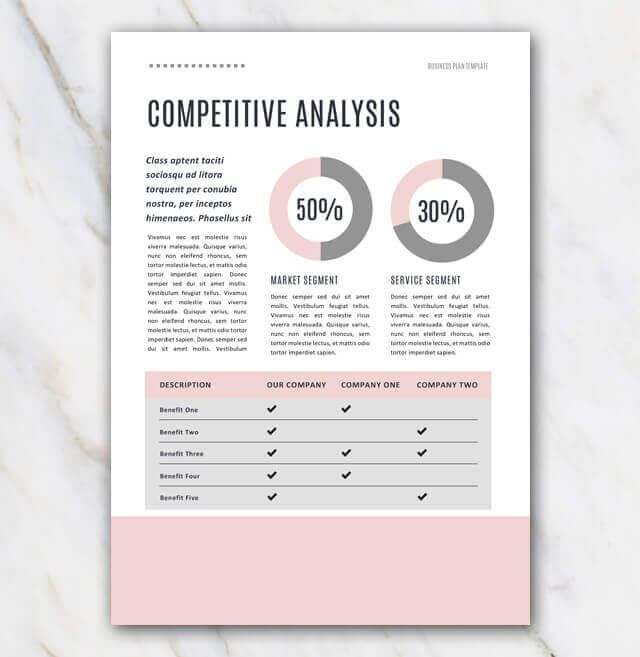 Pink Creative Business Plan Template With Images Business Plan