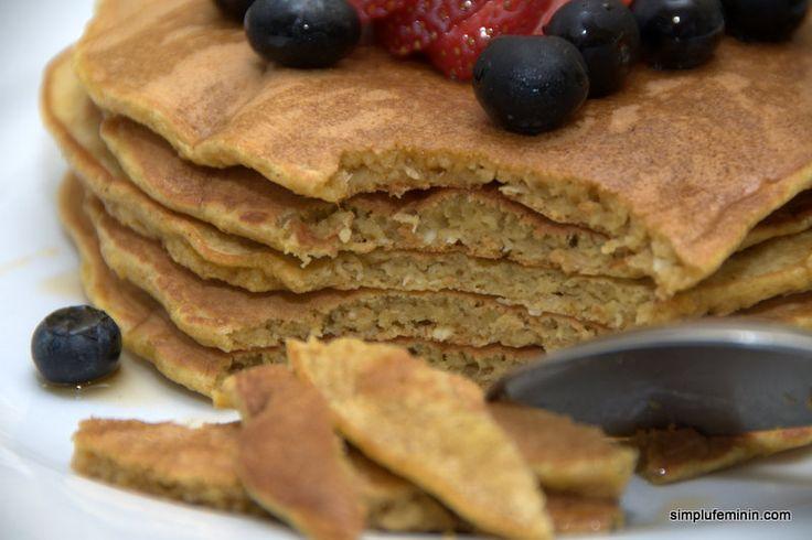 Clatite americane (Pancakes) fara zahar, fara gluten   Simplu Feminin