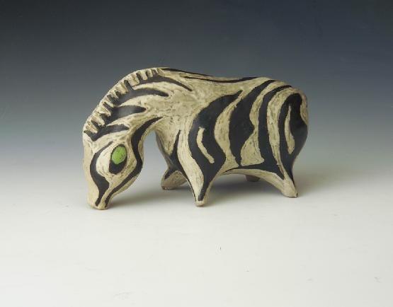 Gorka Lívia - legelésző zebra