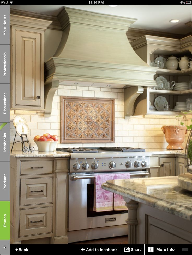 615 best images about for the home on pinterest shelves for Kitchen range hood images