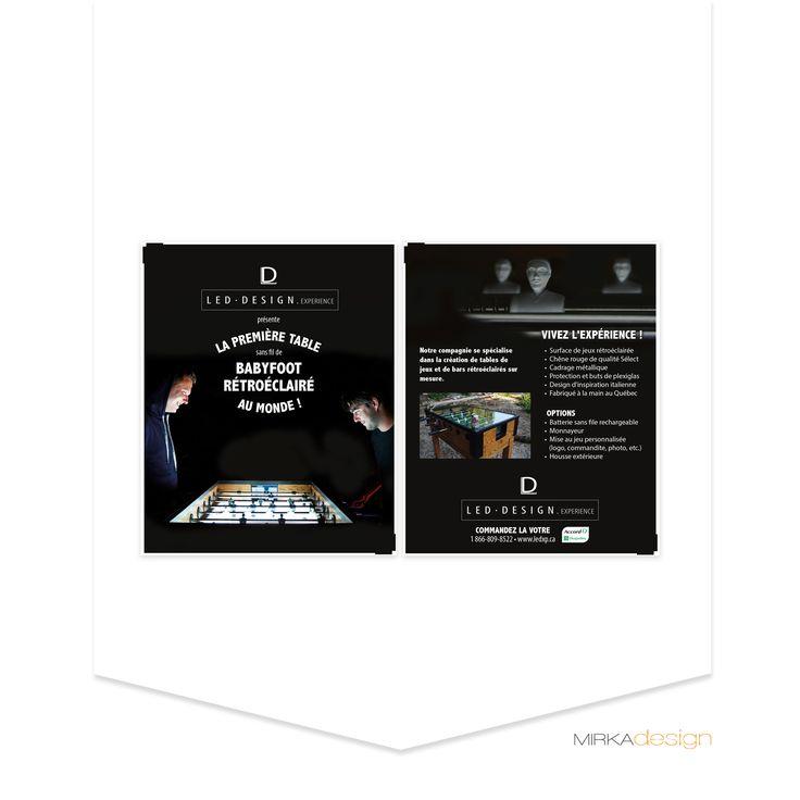Flyer pour LED design experience