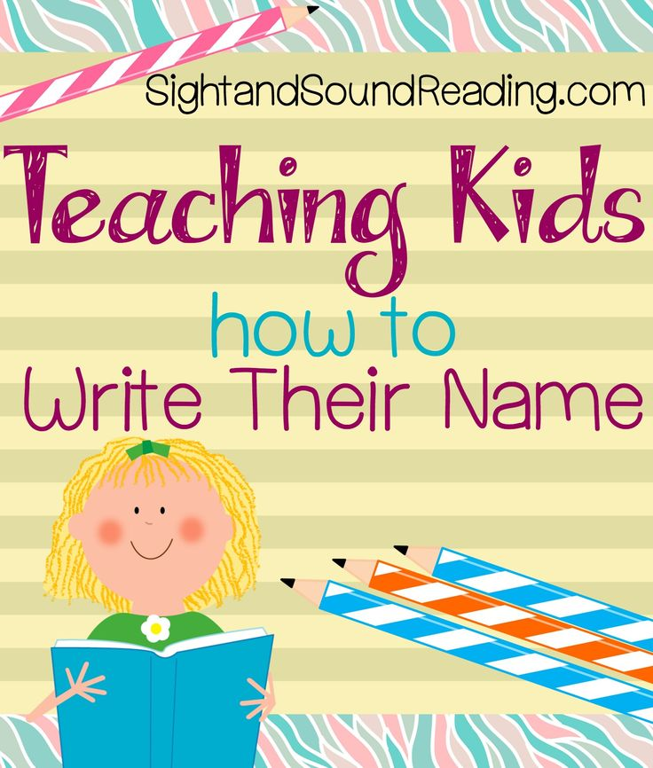 Teaching Kids how to Write their Name