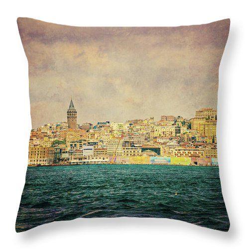Old Istanbul By Svetlana Yelkovan Throw Pillow #SvetlanaYelkovanFineArtPhotography #pillow  #ArtForHome #FineArtPrints #Istanbul