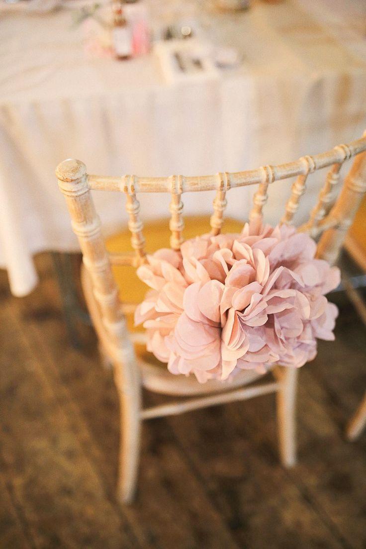 Rustic Spring Wedding Decor - Stylish pastel rustic barn wedding