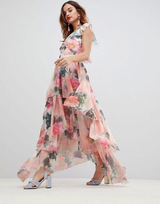 cad633f4f5 Y.A.S graphic floral print maxi dress