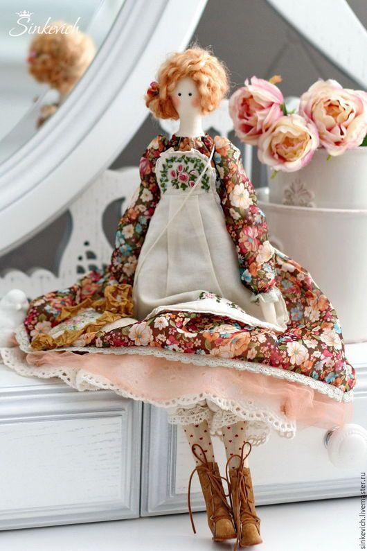 Куклы Тильды ручной работы. Ярмарка Мастеров - ручная работа. Купить Карэн. Handmade. Тильда, кукла Тильда, хлопок