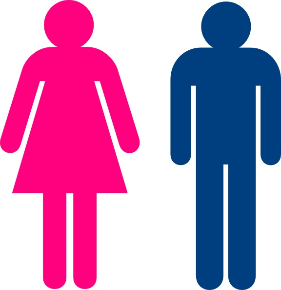 Semiotics - Although this picture may come across as obvious, it just also goes to show how semiotics are seen and used commonly in our everyday lives. One can easily associate each color (ie red or pink with women and blue with men) for use on public restroom doors and other buildings. Pinned from: Genesis Villareal