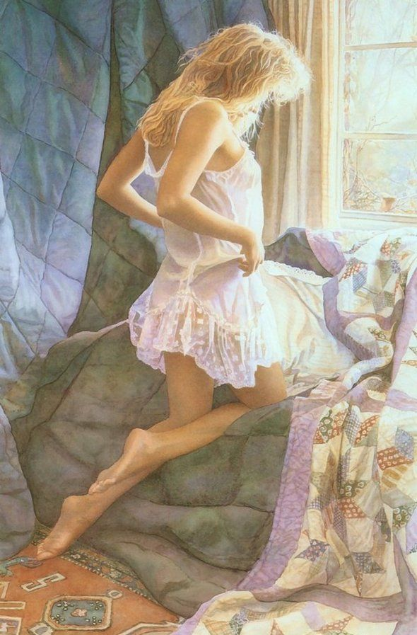 Spirit and Essence of Women in The Paintings: Painter of these fascinating paintings is Steve Hanks and we think he has done an amazing job in capturing the spirit and essence of these women in the paintings. Very realistic character makes slight border between paintings and real photos. Enjoy these art collection!