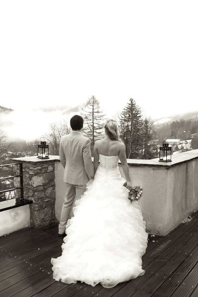 winter wedding in the French Alps!