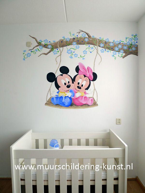 mickey mouse muurschildering