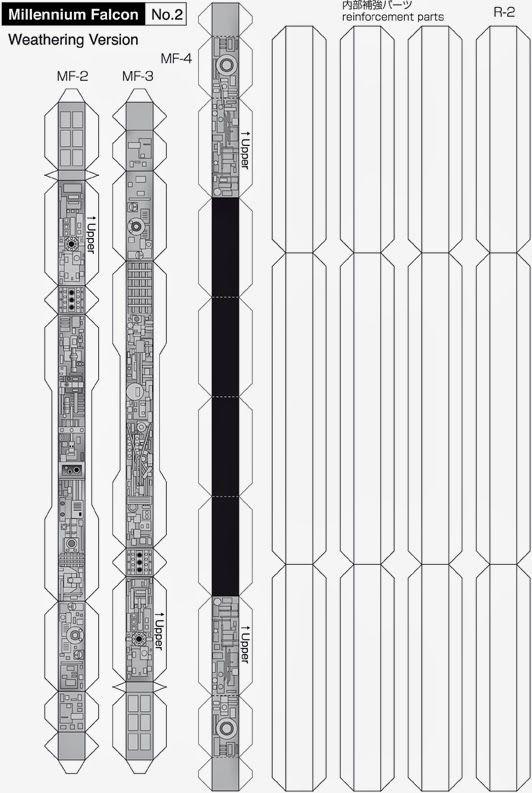 Maqueta descargable del Halcón Milenario3