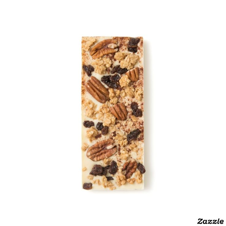 Pecan, Raisin, Vanilla Granola and Cinnamon White Chocolate Bar