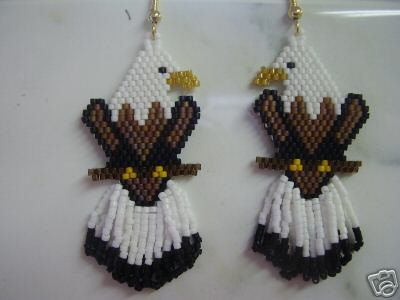 Native American Beaded Eagle Animal Wildlife by BeadedCreationsetc, $25.00