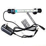 Mingdak® LED Aquarium Light Kit for Fish Tank,underwater Submersible Crystal Glass Lights Suitable for Saltwater and Freshwater,6 RGB SMD 5050 Leds,color Changing Flexible Lighting,7.5-inch