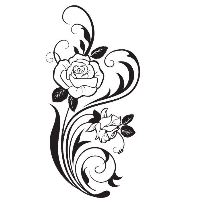 Красивые картинки розы с узором разделе арт-штор