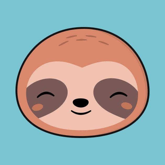 Kawaii Cute Sloth Face Sloth Art Cute Animal Drawings Sloth Drawing