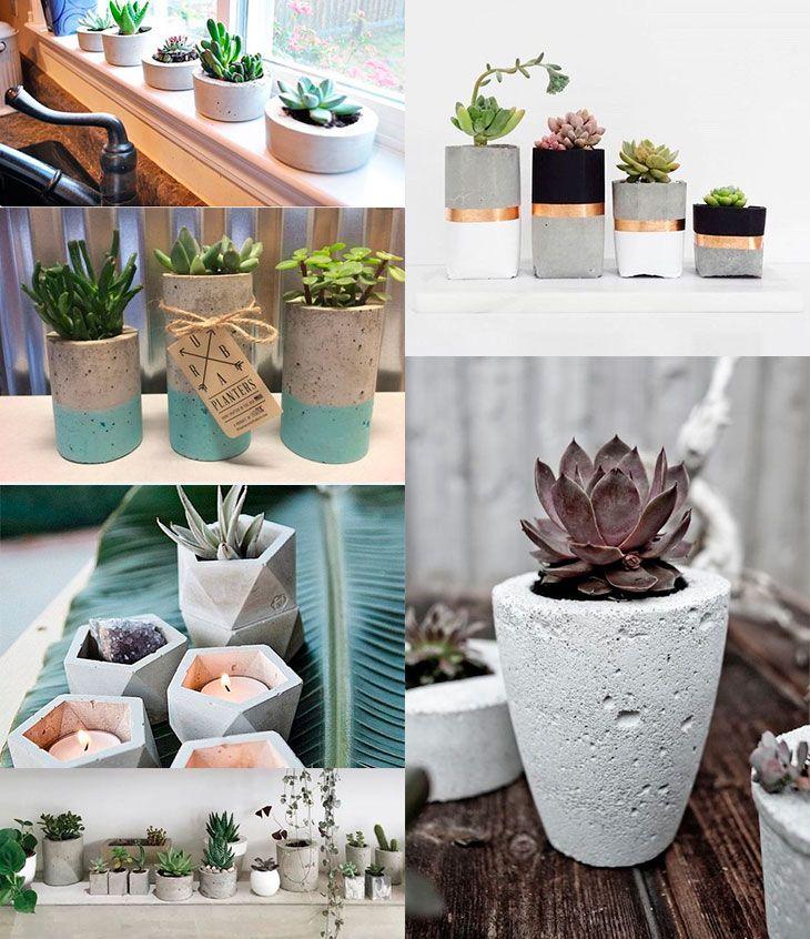 Vasos de cimento: como fazer um modelo por R$1                                                                                                                                                                                 Mais