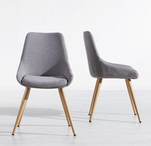 Toller Stuhl im Retro-Look in Hellgrau - ein Sitzplatz mit Stil