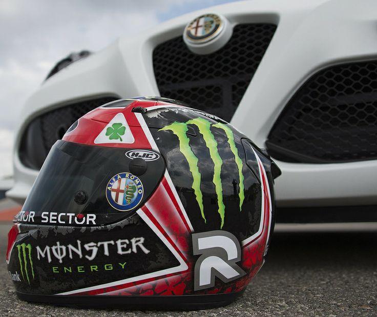 The legendary 'Quadrifoglio Verde' on Jorge Lorenzo's helmet