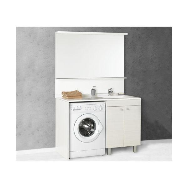 Salle de bain meuble avec espace lave linge pratique et for Meuble salle de bain pour lave linge