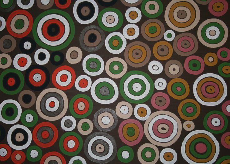 Family Circles. Acrylic paint on canvas 90cm x 60cm. $290