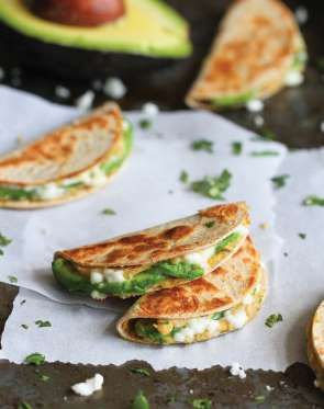 Mini Avocado and Hummus Quesadillas