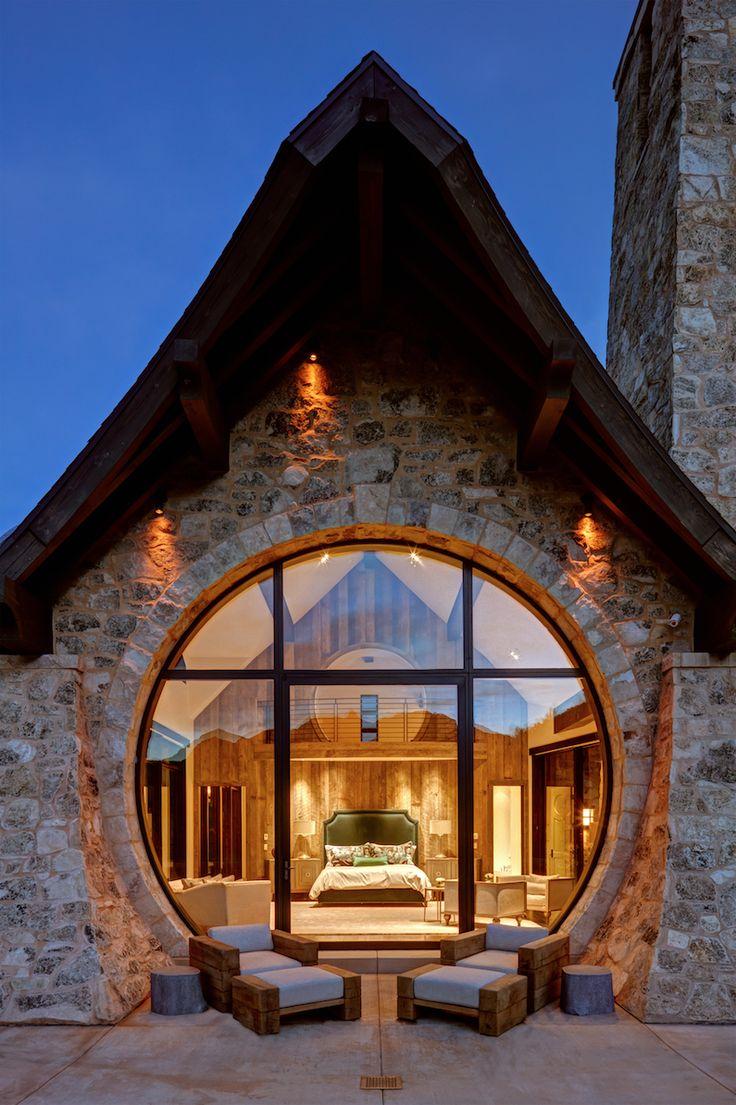 The Weiland Performance Pivot door in a mountain residence in Utah & 25 best Weiland Doors images on Pinterest   Indoor outdoor ...