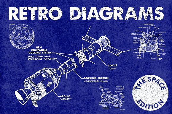 Retro Vector Diagrams - 32 Items by Offset on @creativemarket