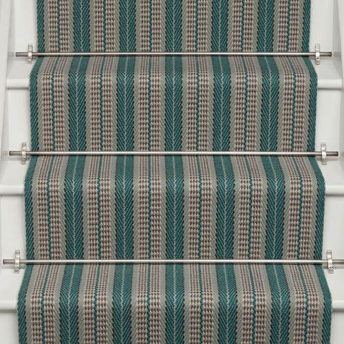 Best Roger Oates Gallery Collection Vernon Teal Stair Runner 400 x 300