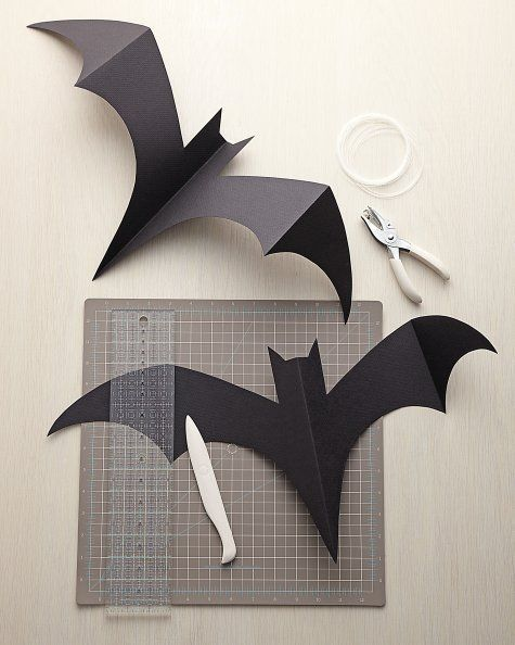 Декор дома на Хэллоуин. Летучие мыши: идеи и Шаблоны.