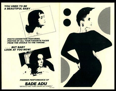 Flyer do primeiro show americano de Sade no Danceteria
