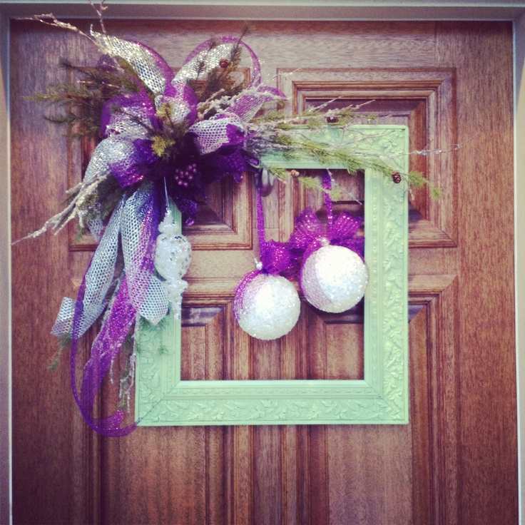 My Christmas Wreath For Front Door!! Loves It!
