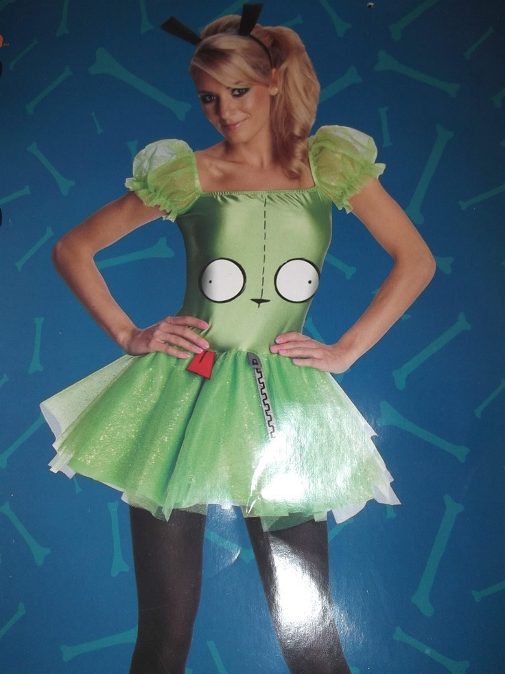 details about new womans junior invader zim gir halloween party dress costume m l md lg invader zim and costumes - Gir Halloween Costumes