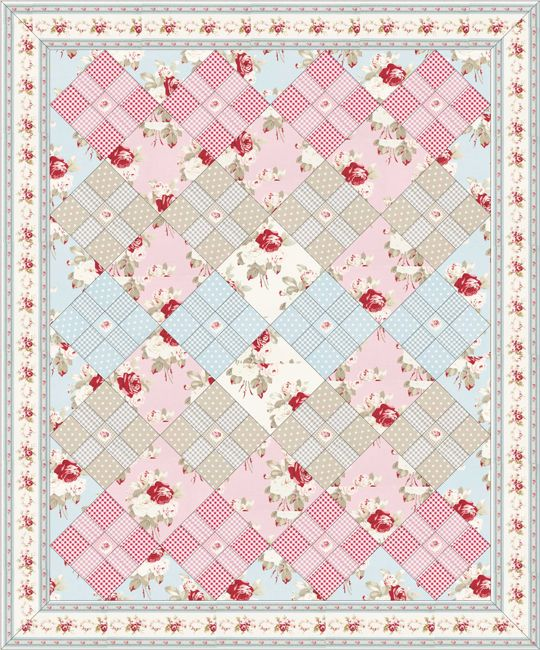 Free Petal quilt pattern by Free Spirit | The Quilted Castle