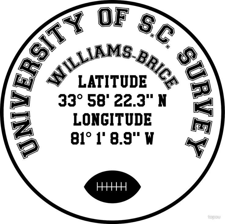 Williams-Brice Stadium, University of South Carolina Benchmark (black text) by topou