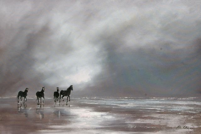 """Gavin Collins Paintings Title: """"Clearing Storm"""" Size: 1,5m x 1m"""