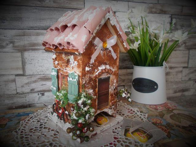 Ágness otthondekor blogja: Teafilter házikó