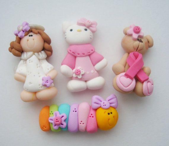 Mini Mix Set  Angel Caterpillar Kitty Pink por RainbowDayHappy