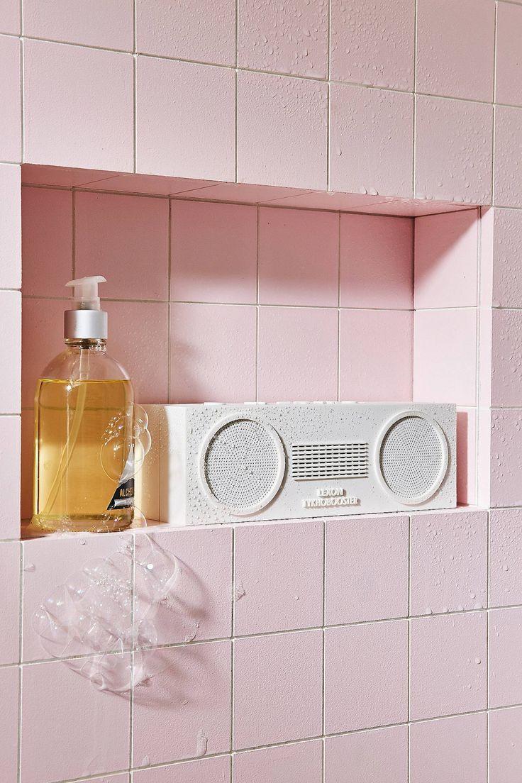 In wall bathroom speakers - Lexon Tykho Booster White Water Resistant Bluetooth Wireless Speaker