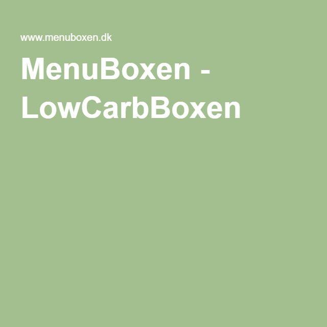 MenuBoxen - LowCarbBoxen