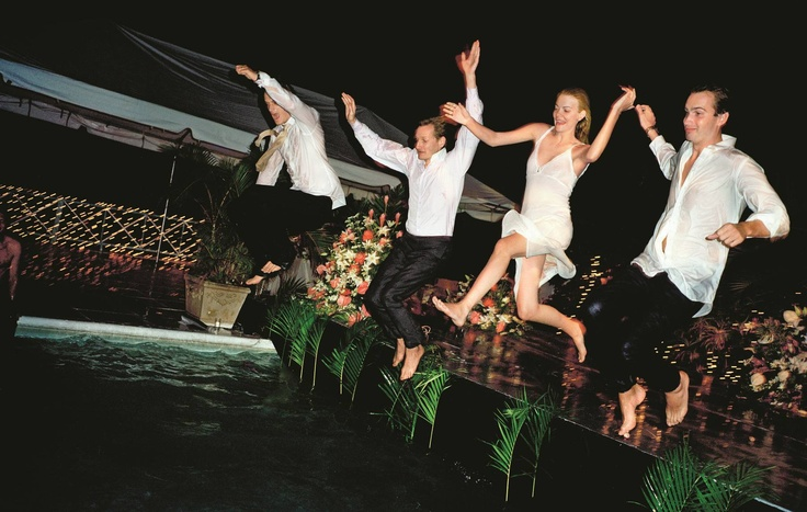 best wedding photo ever... looks like so much FUN!     Vogue Weddings: 120 Years of Posh Nuptials - The Cut
