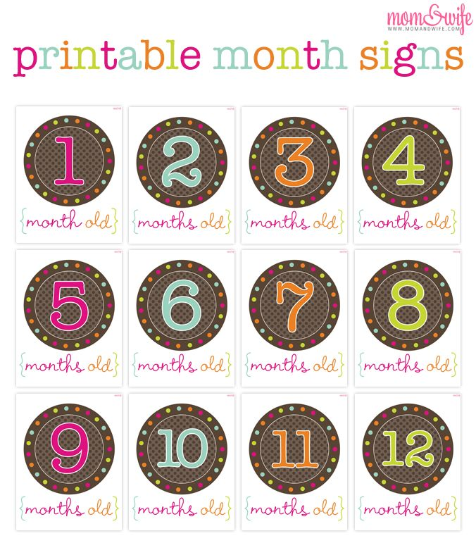 Printable Month Signs For Baby Pictures Mom Pictures And Babies First Year