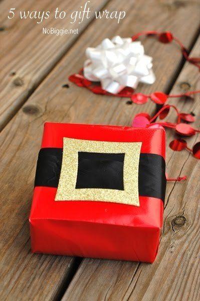 Santa carta da regalo nastro | NoBiggie.net