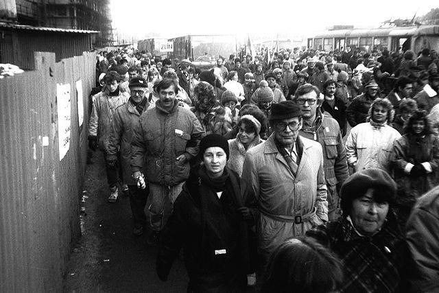 Prague on Nov. 25, 1989, at the height of the protests that brought down the Communist regime.