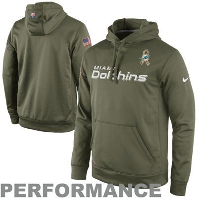 Nike Miami Dolphins Salute to Service KO Pullover Performance Hoodie ... 15571654c